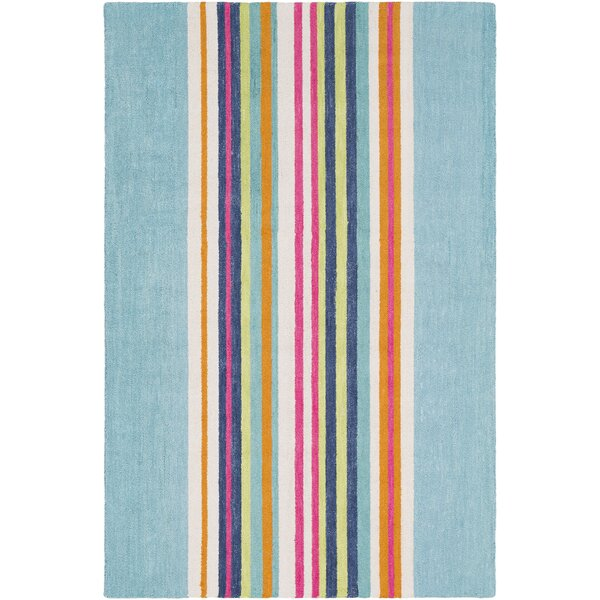 Chatman Hand Tufted Wool Mint/Blue Area Rug by Harriet Bee