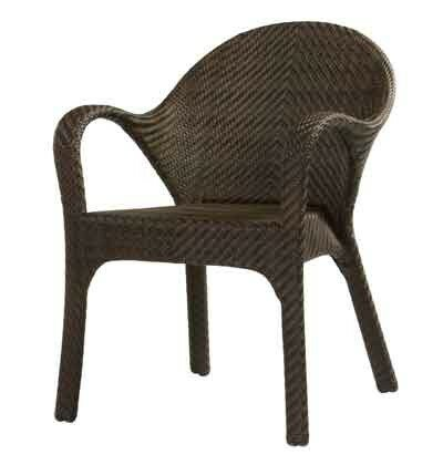 All-Weather Bali Small Patio Dining Chair by Woodard