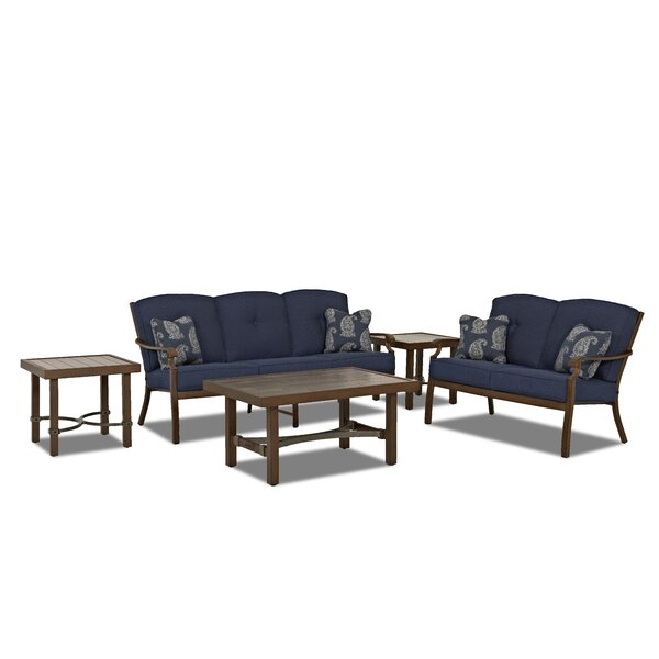 5 Piece Sunbrella Sofa Set with Cushions by Trisha Yearwood Home Collection