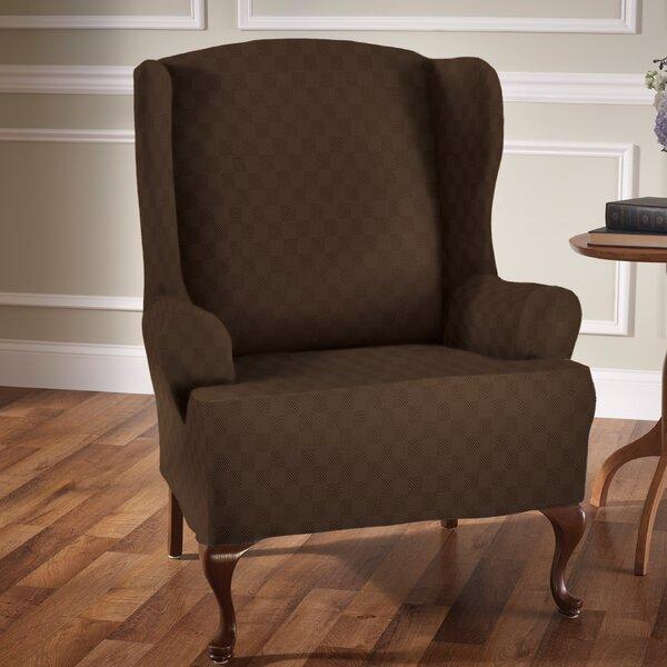 Compare Price Sensation T-Cushion Wingback Slipcover