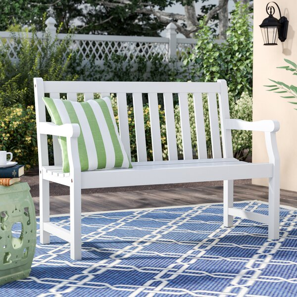 Andromeda Wooden Garden Bench by Beachcrest Home Beachcrest Home