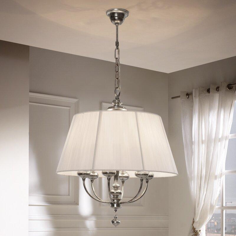 Schuller artemis altura 6 light metal chandelier reviews for Lamparas techo salon