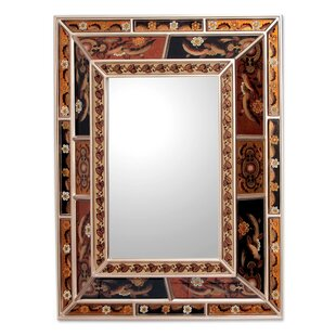 Novica Reverse Painted Wall Mirror