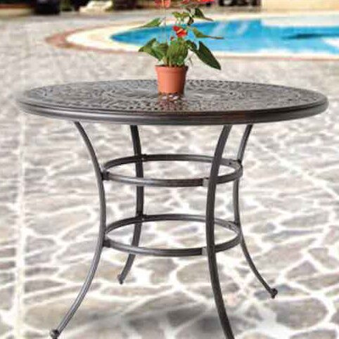 Kristy Metal Bar Table by Darby Home Co