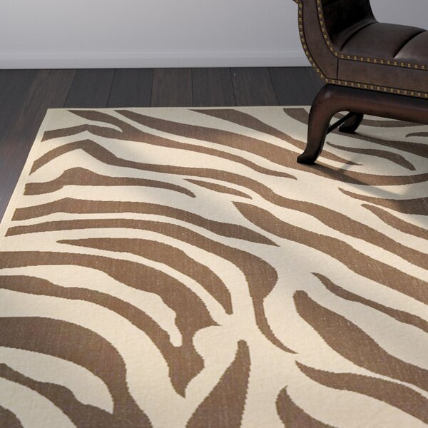 Almada Cove Beige/Brown Indoor/Outdoor Area Rug by World Menagerie