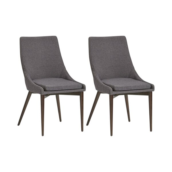 Blaisdell Linen Upholstered Dining Chair (Set Of 2) By Mercury Row