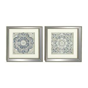 2 Piece Polystone Mirror Framed Wall Art Set (Set of 2) by Mistana