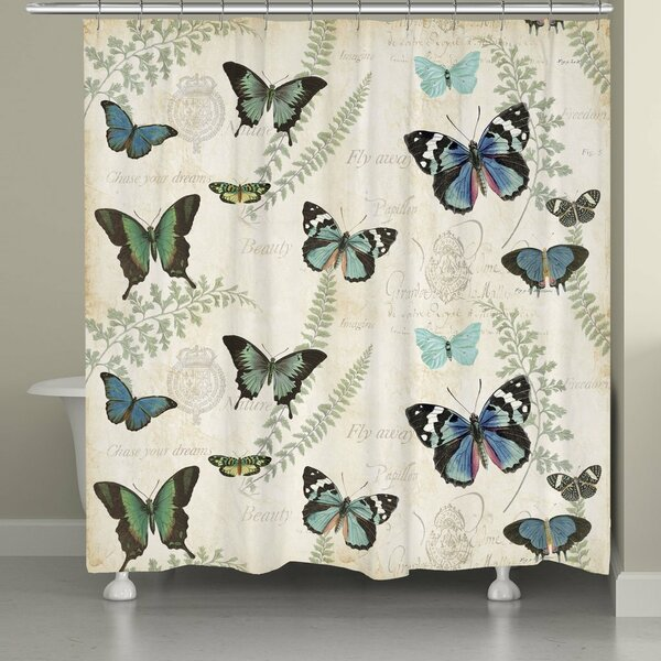 Cadel Flutters and Ferns Shower Curtain by Ophelia & Co.