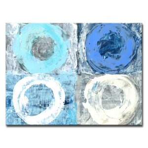 'Circular Squares' Painting Print on Wrapped Canvas by Zipcode Design