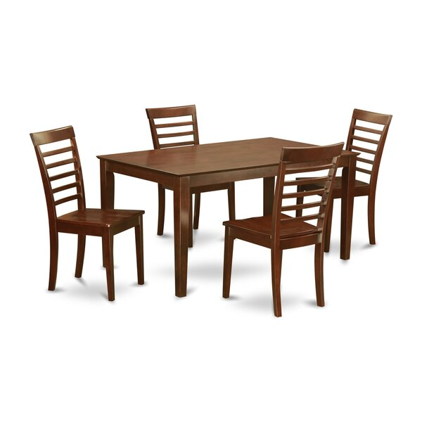 Great price Smyrna 5 Piece Dining Set By Charlton Home No Copoun