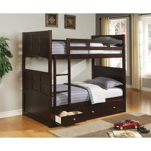 Velasco Twin Bunk Bed with Storage by Harriet Bee