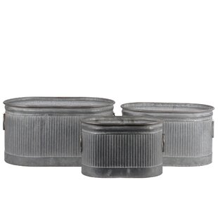 Shop For Oval Metal 3 Piece Storage Bin Set ByGracie Oaks