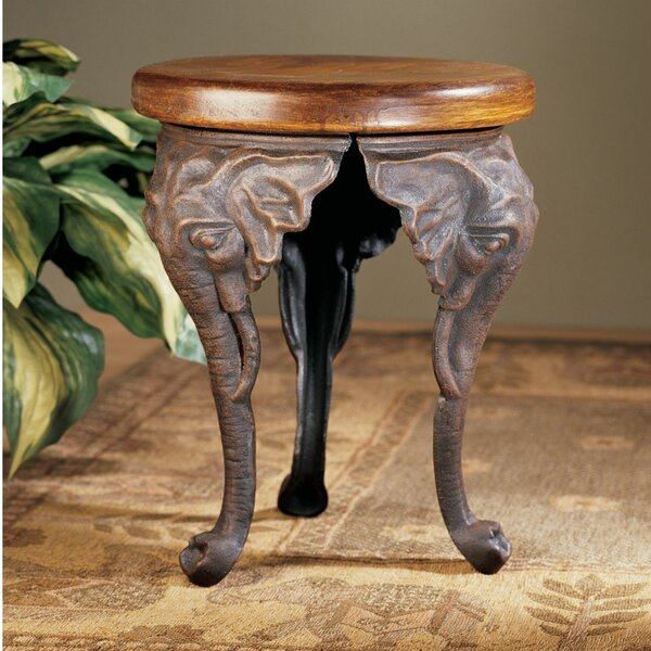 Three Elephants of Timbe Sculptural End Table by Design Toscano