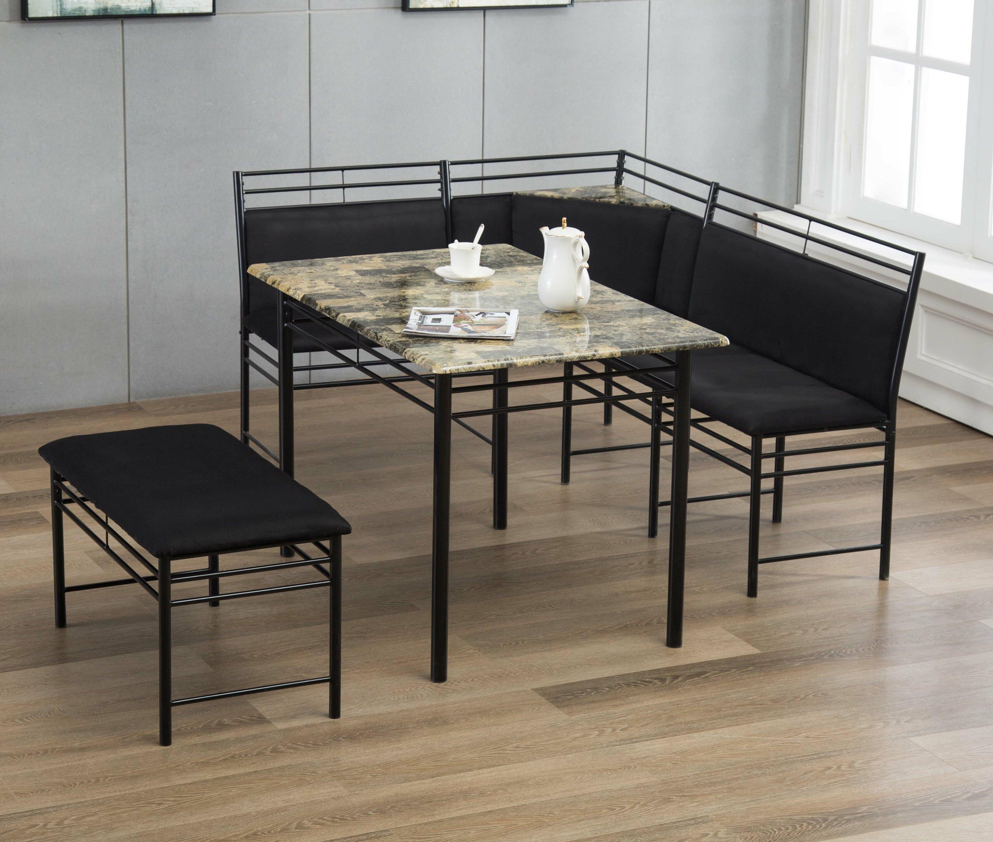 Winston Porter Tyrell 3 - Piece Breakfast Nook Dining Set & Reviews