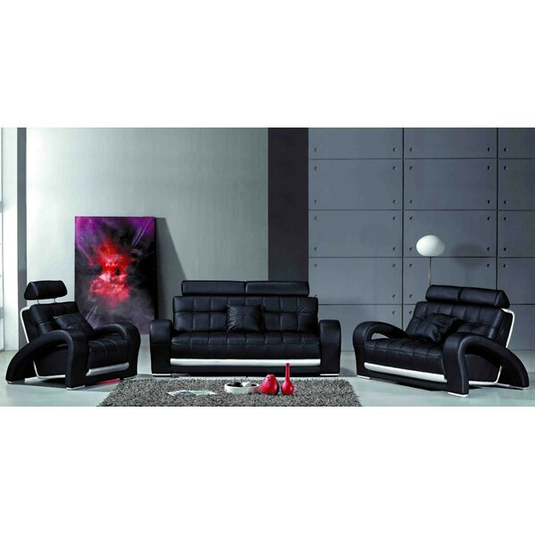 Belmoor 3 Piece Living Room Set by Orren Ellis Orren Ellis