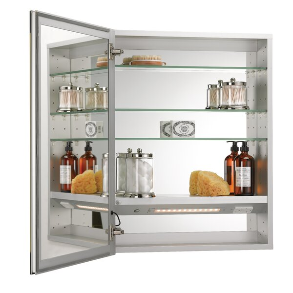 Twitty Recessed Frameless Medicine Cabinet with 4 Adjustable Shelves