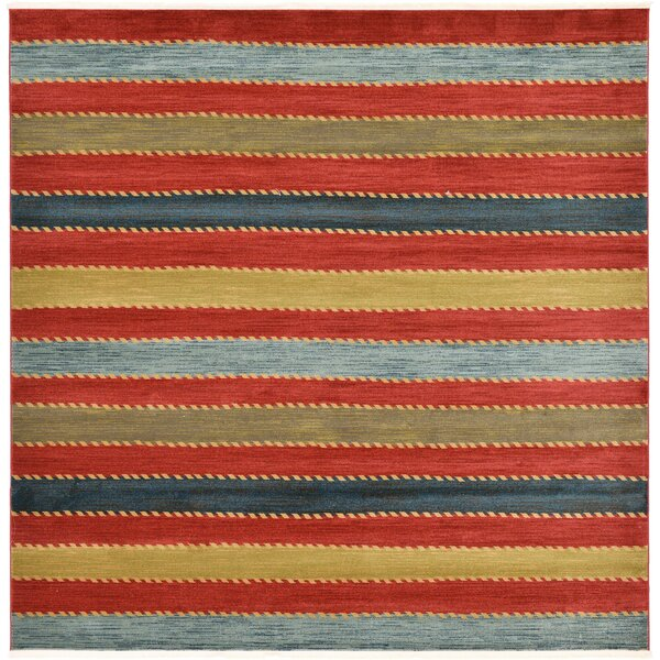 Langham Red Area Rug by Beachcrest Home