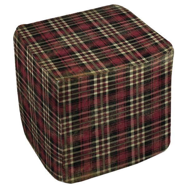 Plaid Pouf by Manual Woodworkers & Weavers