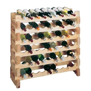 Country Pine 9 Bottle Floor Wine Rack (Set of 2) by Wine Cellar Innovations