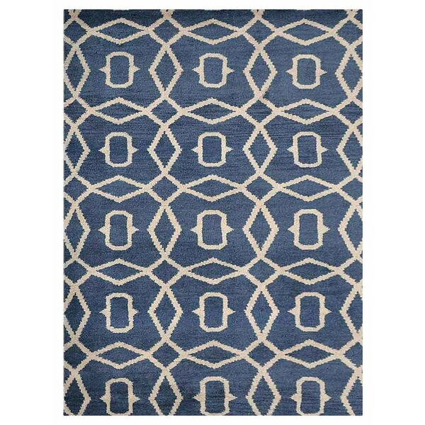 Knecht Hand-Woven Blue/Beige Area Rug by Alcott Hill