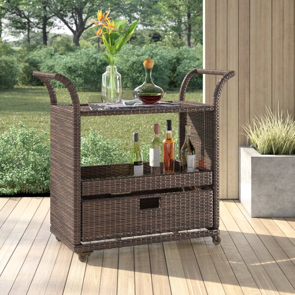 Moody Bar Serving Cart by Mercury Row