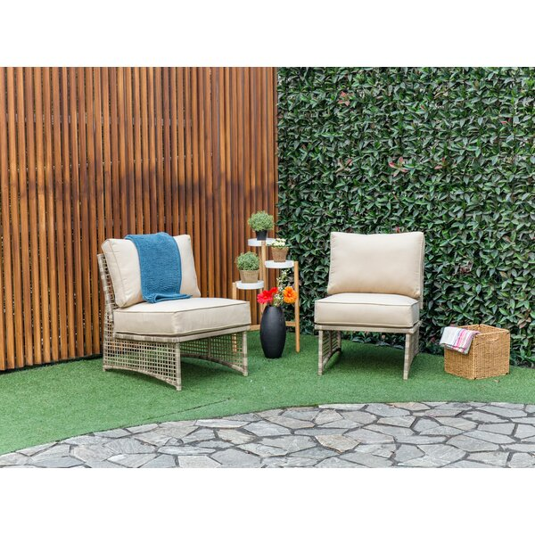Kayleigh Outdoor Patio Chair with Cushions (Set of 2) by Bay Isle Home