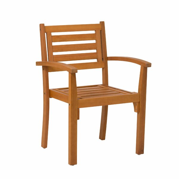 Hazeltine Eucalyptus Stacking Patio Dining Chair (Set of 2) by Bay Isle Home