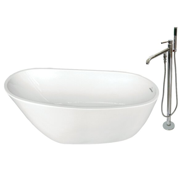 59 x 29 Freestanding Soaking Bathtub by Kingston Brass