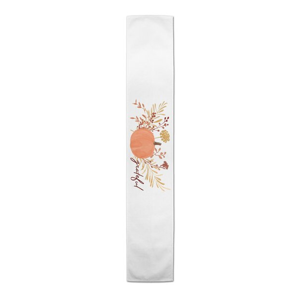 Beth Grateful Harvest Pumpkin Table Runner by The Holiday Aisle