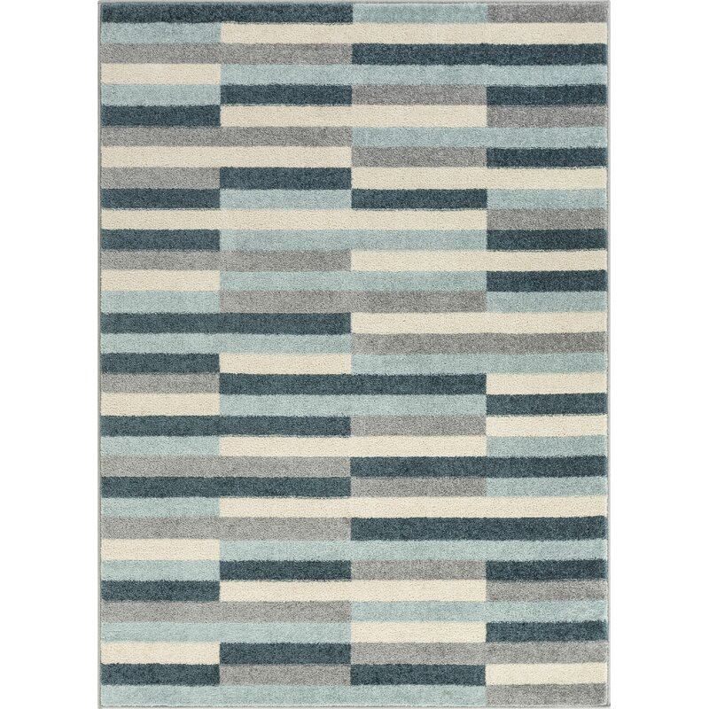 Well Woven Mystic Griffith Modern Vintage Geometric Blue Gray Area