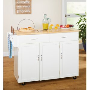 Sayers Kitchen Island with Wood Top by Alcott Hill Best Reviews