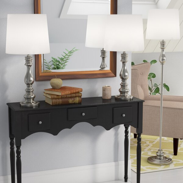 Girardeau 3 Piece Table and Floor Lamp Set by Three Posts