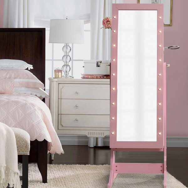 Vanmatre Light Storage Jewelry Armoire With Mirror By Mercer41