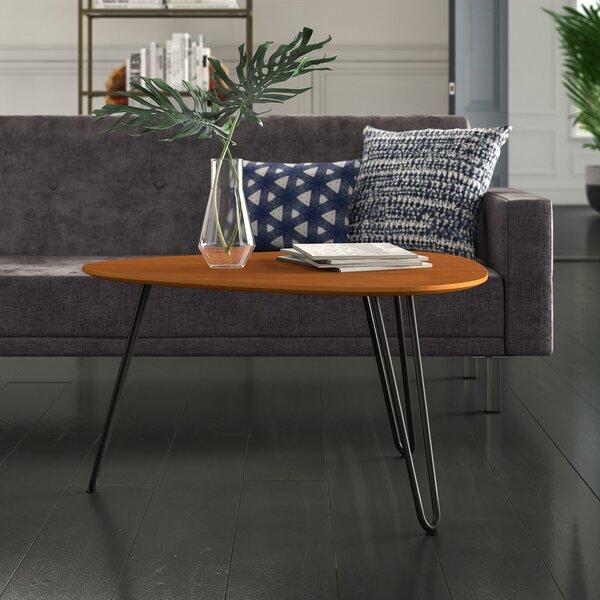Labarge Hairpin Leg Wood Coffee Table by Mercury Row
