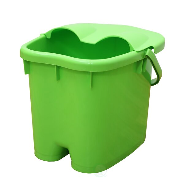 Foot Massage Spa Bath Bucket with Cover by Basicwise