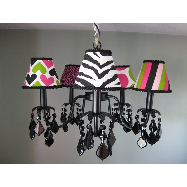 Wild Child Mix And Match 5-Light Shaded Classic / Traditional Chandelier By Silly Bear Lighting