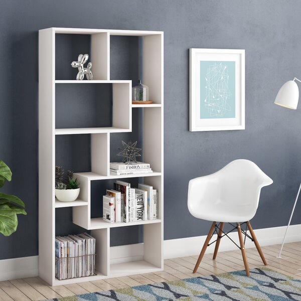 Carbone Geometric Bookcase by Ivy Bronx