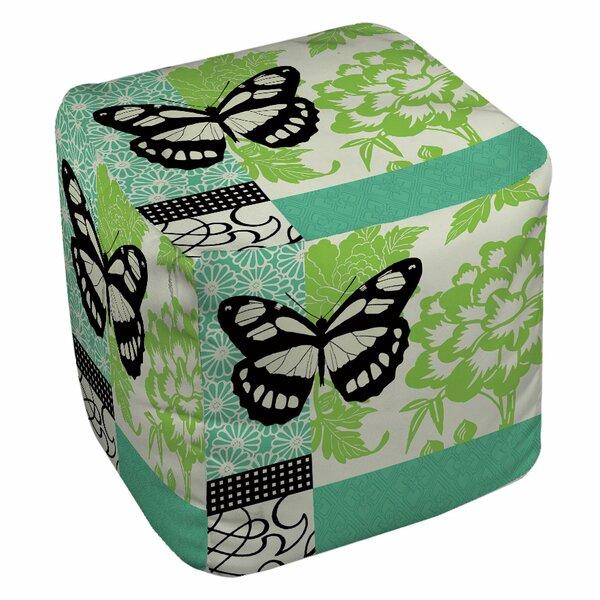 Butterfly Journey Pouf by Manual Woodworkers & Weavers