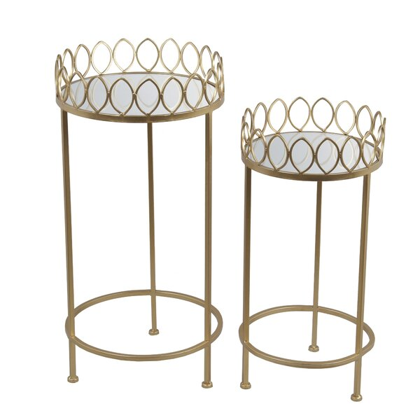 Bellanger 2 Piece Iron Nesting Plant Stand Set by Mercer41