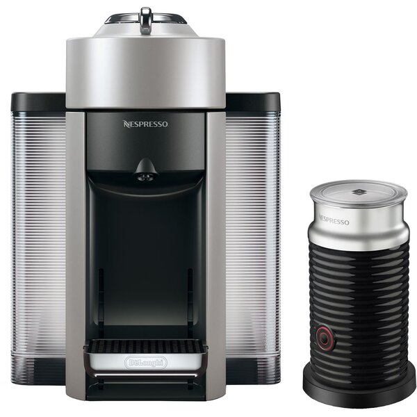 Nespresso Vertuo Espresso Single-Serve Machine and Aeroccino Milk Frother by DeLonghi