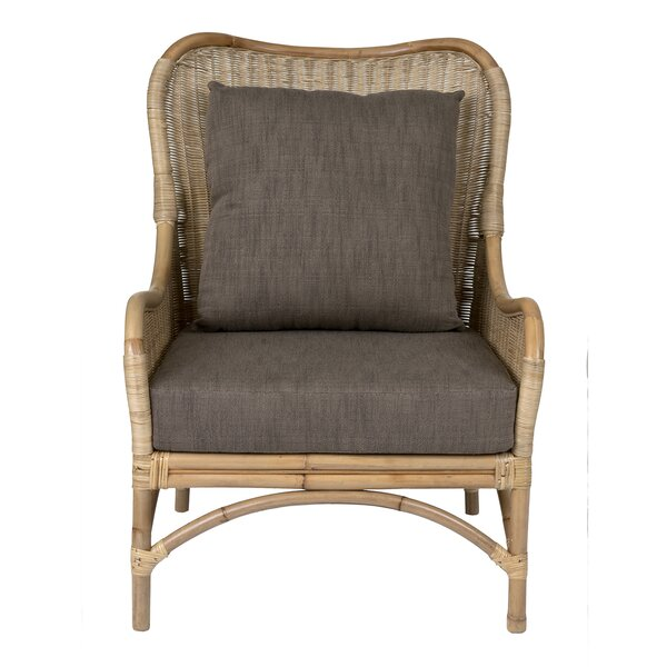 Hatmaker Patio Chair with Cushion by Bungalow Rose Bungalow Rose
