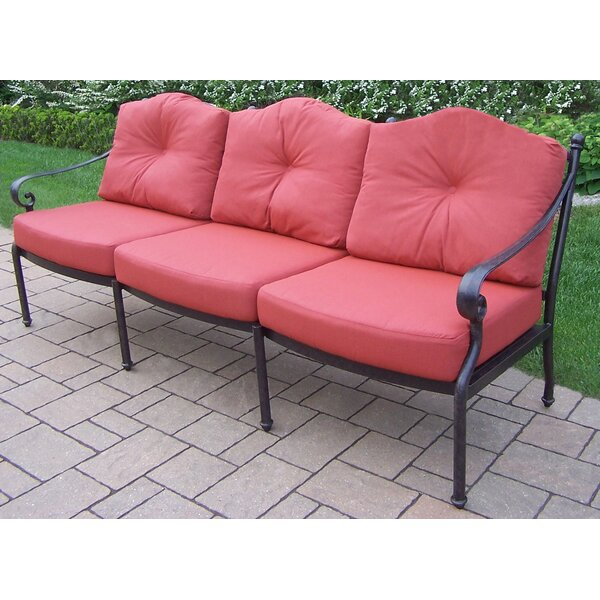 Robicheaux Patio Sofa with Cushions by Fleur De Lis Living