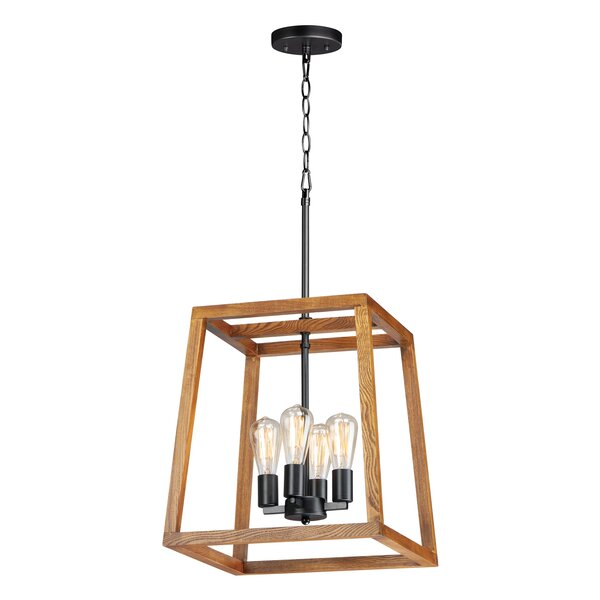 Morgan 4 - Light Unique / Statement Rectangle / Square Chandelier By Williston Forge