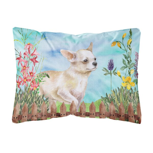 Larsen Chihuahua Leg up Spring Indoor/Outdoor Throw Pillow by Winston Porter