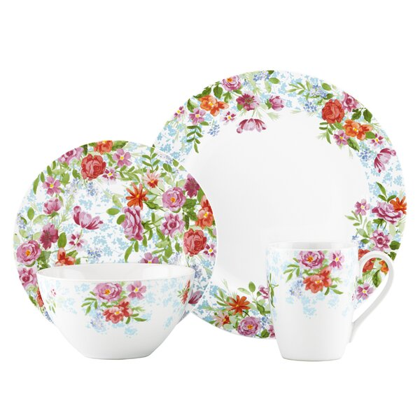 Spring Bouquet 4 Piece Place Setting by by Kathy I