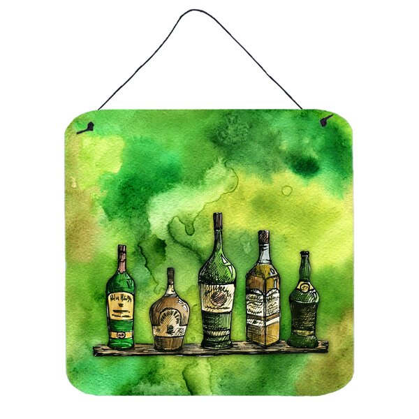 Modern Whiskey Bottle Wall Décor by East Urban Home