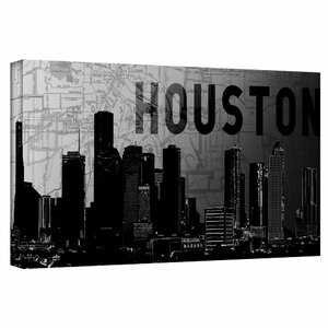 'Houston' by Art Sandcraft Graphic Art on Wrapped Canvas by ArtWall