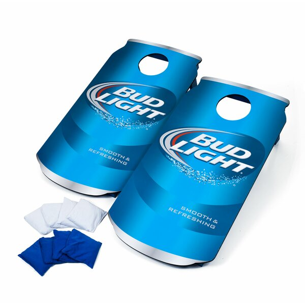 2 Piece Bud Light Cornhole Board Set by Hey! Play!
