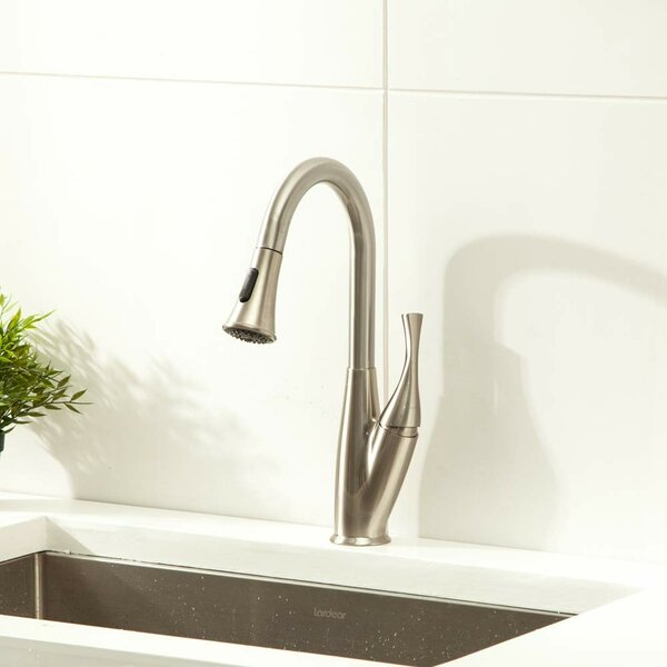 Sherwin Pull Down Touch Single Handle Kitchen Faucet with Side Spray