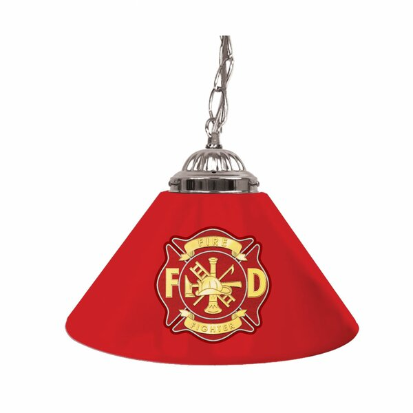 Fire Fighter 14 Single Shade Bar Lamp by Trademark Global